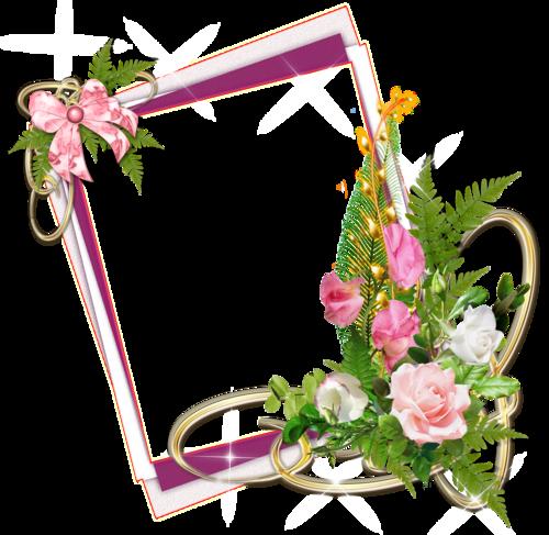 tube cadre en fleurs - .