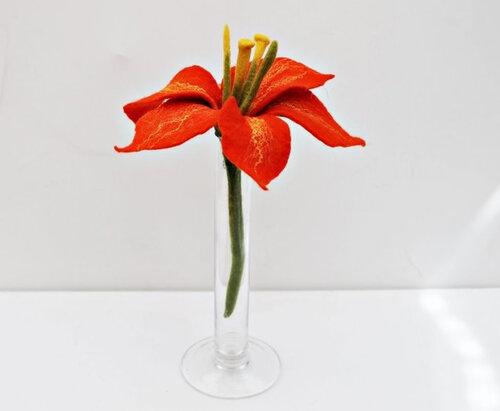 цветы в технике мокрого валяния