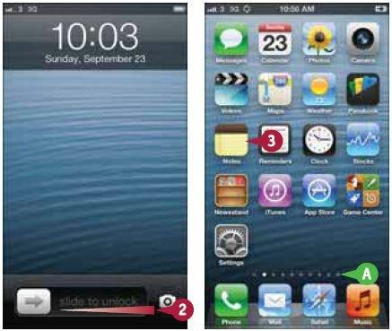 На iPhone откроется домашний экран