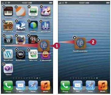 После разблокировки перетащите значок к левому (для открытия предыдущего домашнего экрана) или правому краю экрана