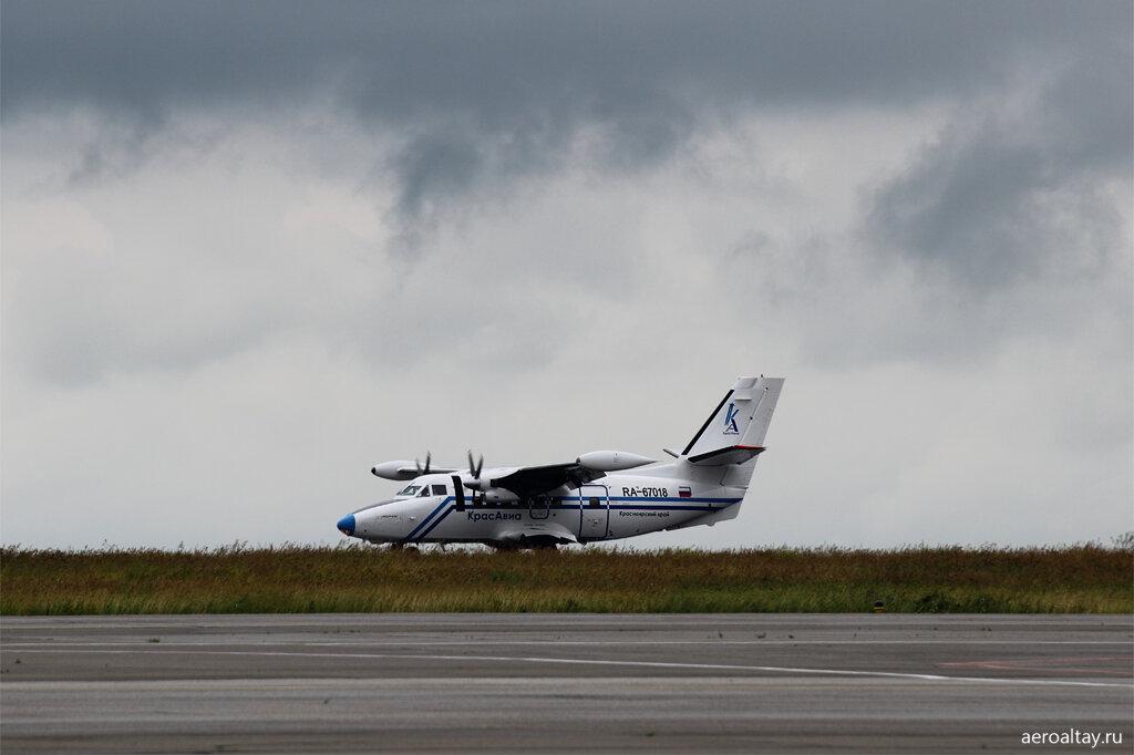 Прибытие самолёта из Красноярска в Барнаул