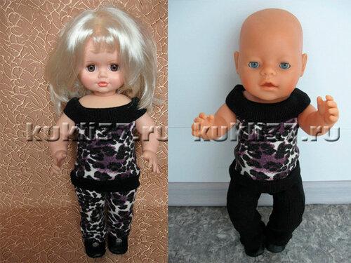 костюм для куклы с блузоном