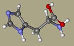 DL-HISTIDINE - 4998-57-6, l-(14c)histidine, 2-amino-3-(1H-imidazol-4-yl)propanoic acid, AG-F-67366, 2-amino-3-(1H-imidazol-5-yl)propanoic acid, histidina-CID_773.png