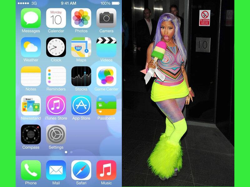 Новый упрощенный редизайн от Apple и вариации на тему iOS7