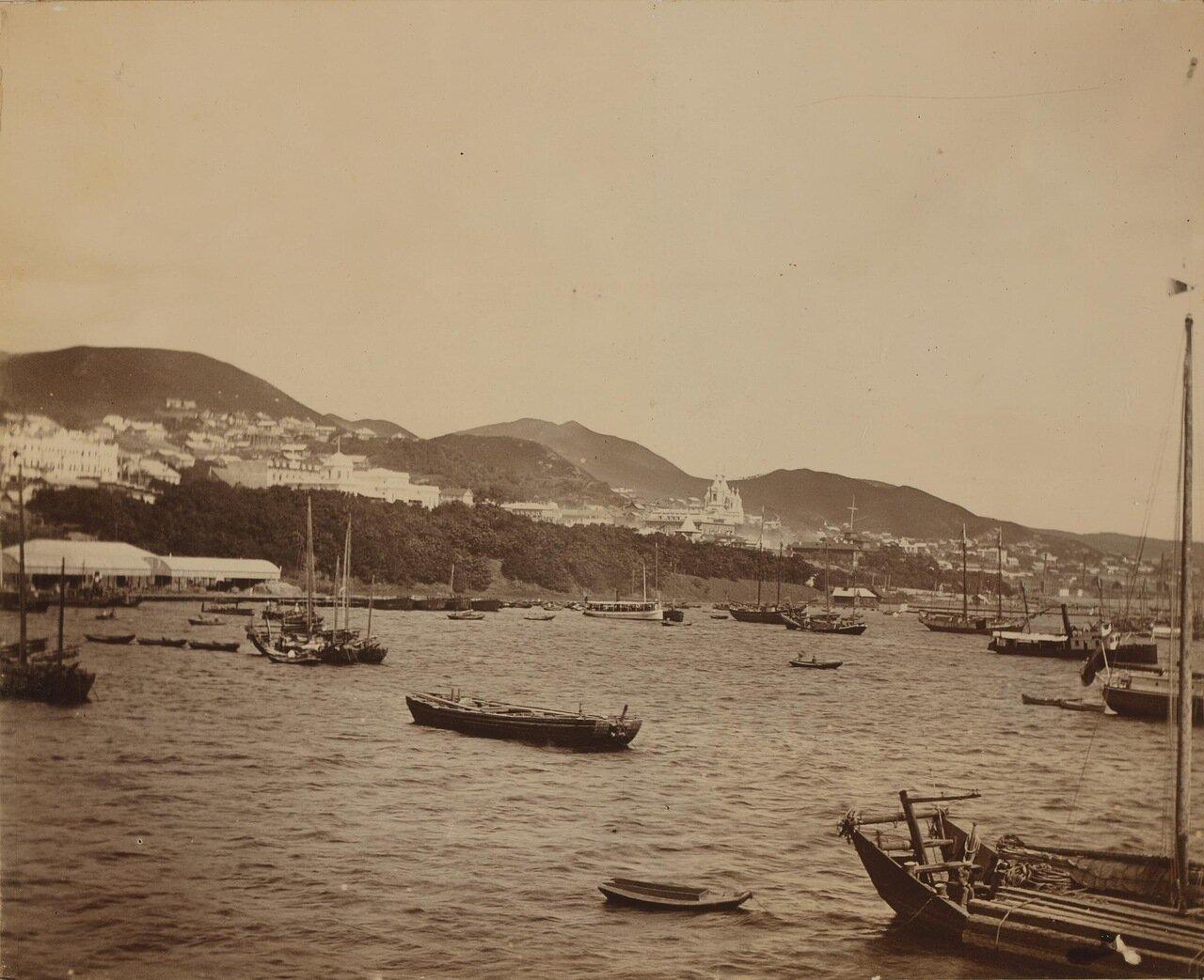 Вид на Владивосток от бухты Золотой Рог. 1899
