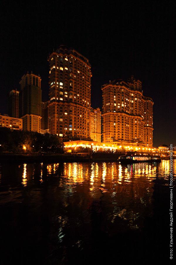 жилой комплекс Алые паруса ночное фото