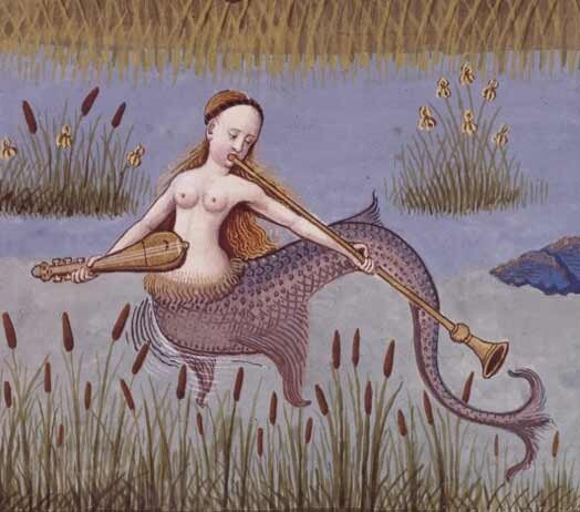 The first known mermaid stories appeared in Assyria, ca. 1000 BC