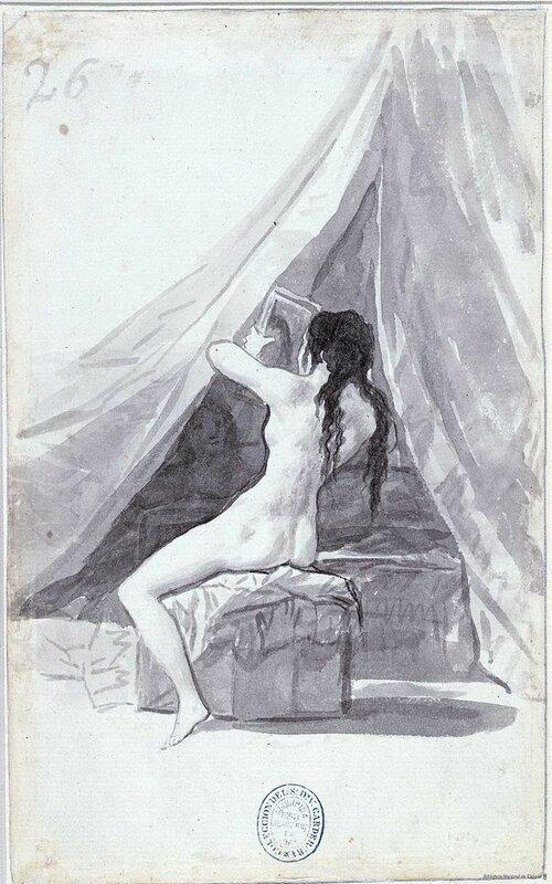 Обнажённая с зеркалом,(1796-1797 г.г) Гойя Франсиско (1746-1828);