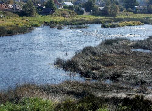 Река Луга в районе поселка Сабск