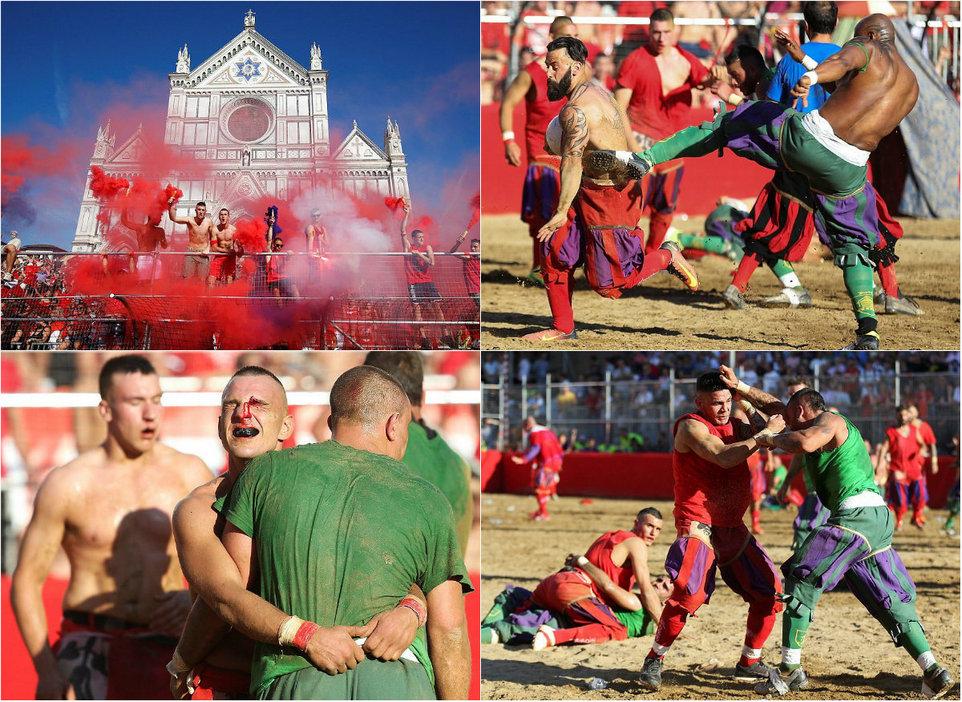 Calcio Storico Fiorentino — настоящий футбол!