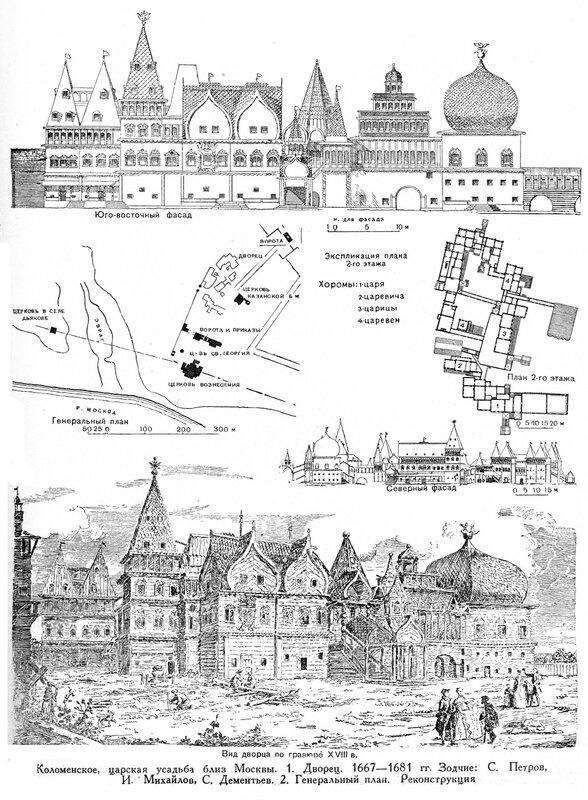 Дворец царя Алексея Михайловича , чертежи и перспектива