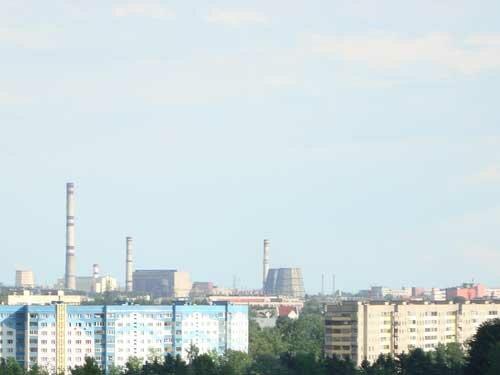 Отдых в Беларуссии: Вид на Минск с колеса обозрения в парке челюскинцев