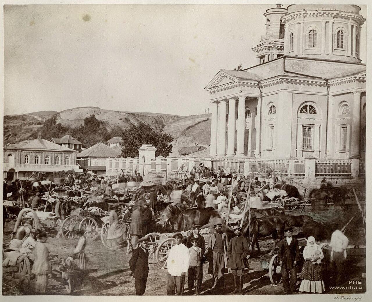 Базар в праздник в Цымлянской станице. 1875-1876