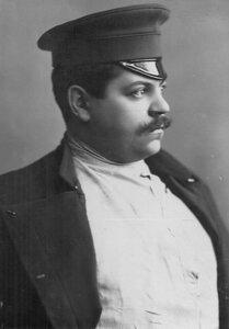 Портрет атлета и борца И.В.Лебедева.1912