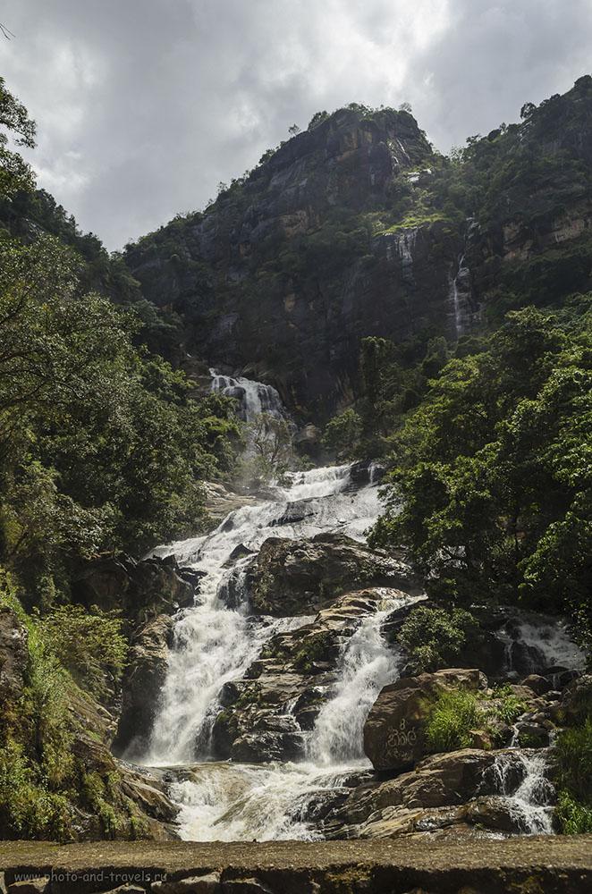 30. Фото. Водопад Rawana Falls можно увидеть, добираясь из Тиссамарахамы в Эллу. Отдых в Шри-Ланке (100, 20, 10.0, 1/60)