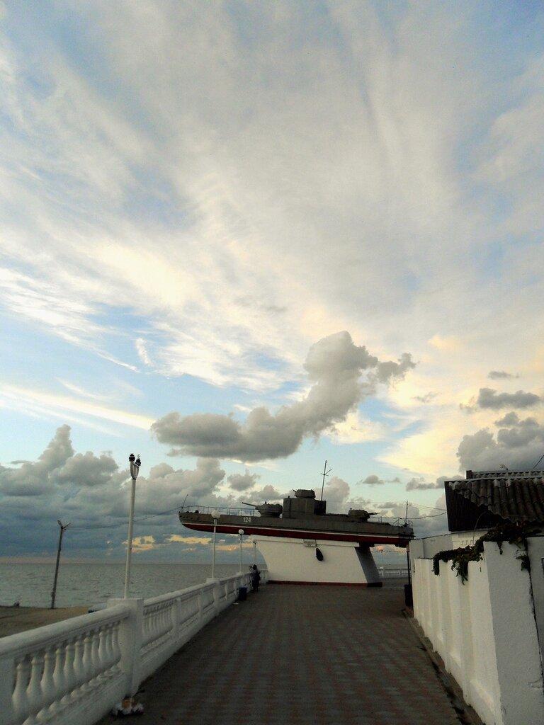 В облачный вечер
