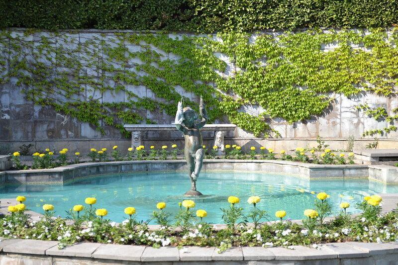 фонтан во дворе Юсуповского дворца