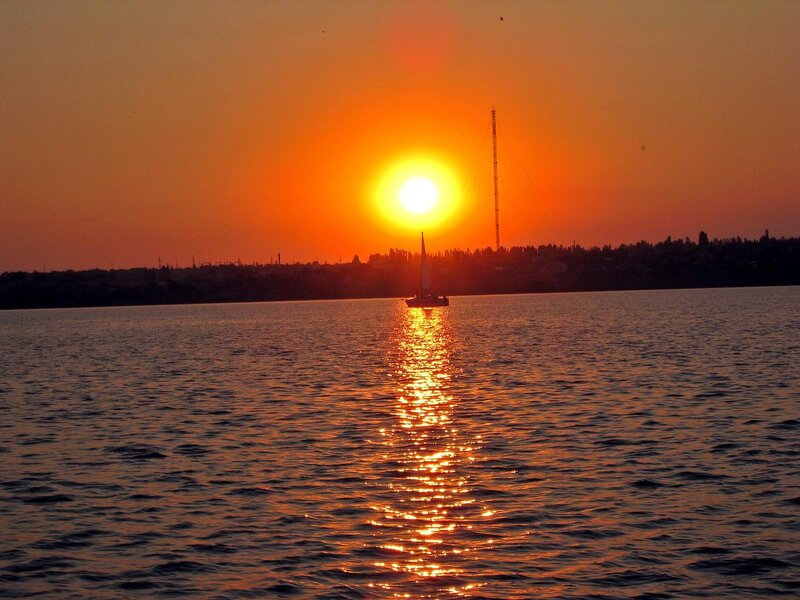 Закат в яхт-клубе