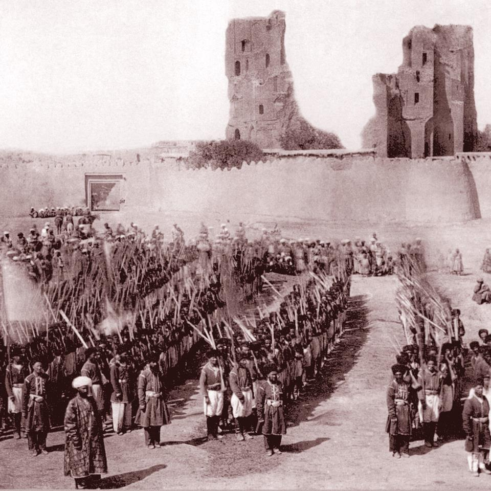 Окрестности Бухары. Шахрисабз. Строй бухарских войск