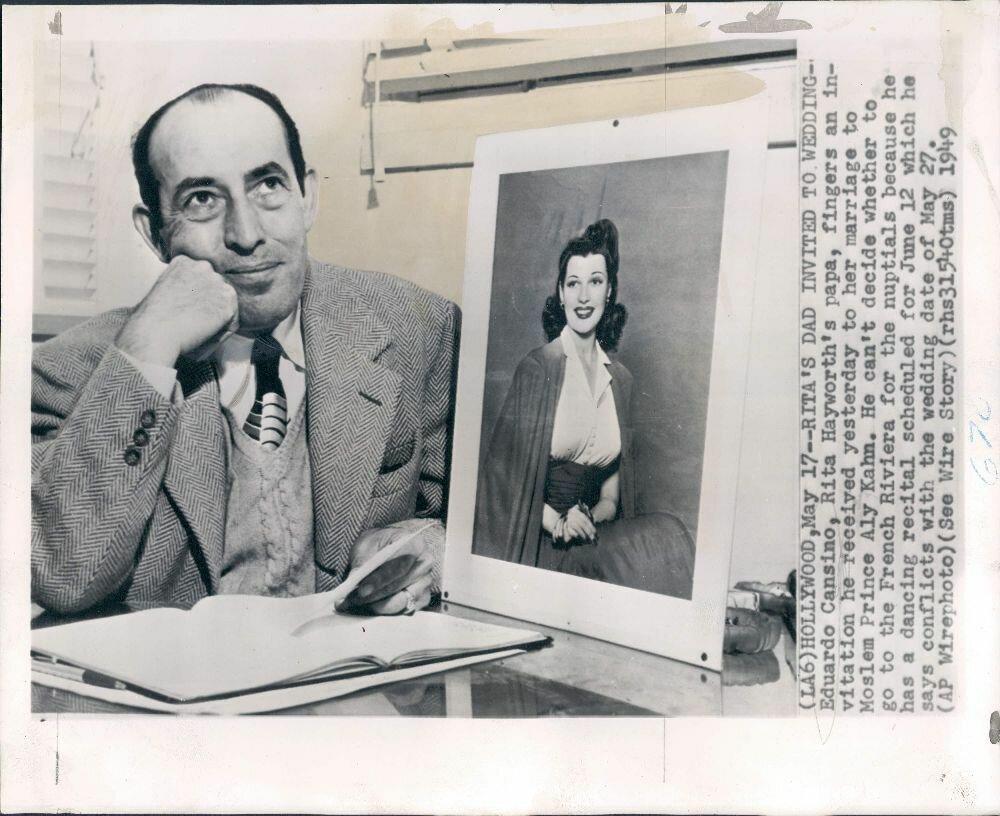 1949. Актер и танцор Эдуардо Кансино, отец Риты Хейворт