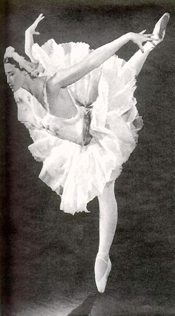 """Майя Плисецкая. """"Умирающий лебедь,"""" Сен-Санс, Гастроли Большого театра в Финляндии,  26 мая-1 июня 1960 г."""