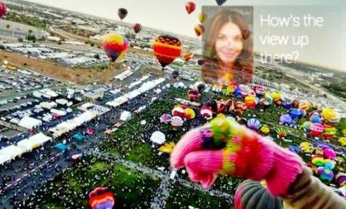 Google Glass слушает голос