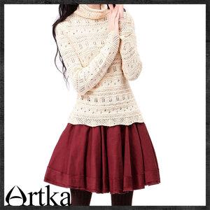 Ёлочки-иголочки,шикарный воротник- свитер спицами от Artka