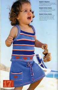 Юбочка и топик – летний наряд для дочки