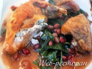 Рецепт курицы в духовке с гранатом - от Джейми