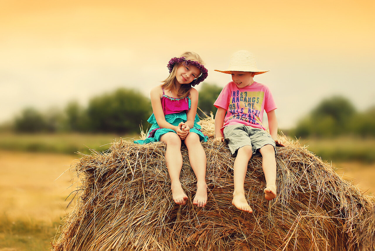 Русские дети на природе