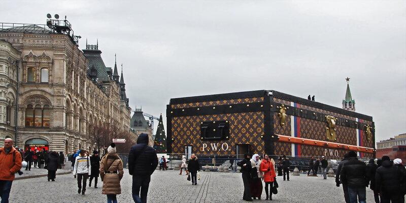 Выставка Louis Vuitton на Красной Площади