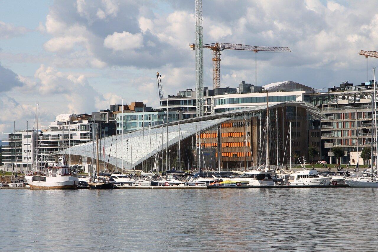 Осло, гавань, Oslo, harbor, музей современного искусства Атрупа Фернли
