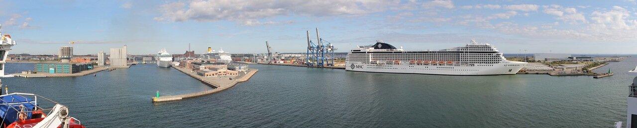the port of Copenhagen, Copenhagen Port, panorama