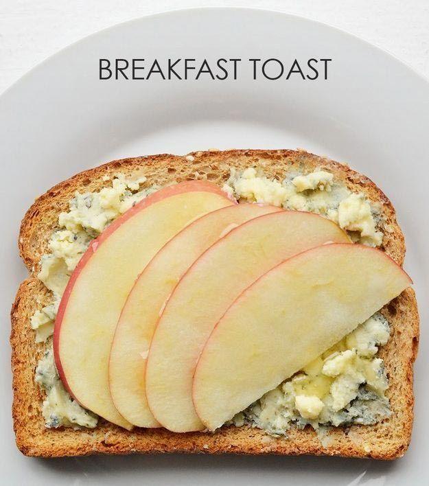18. Яблоко + мед + голубой сыр