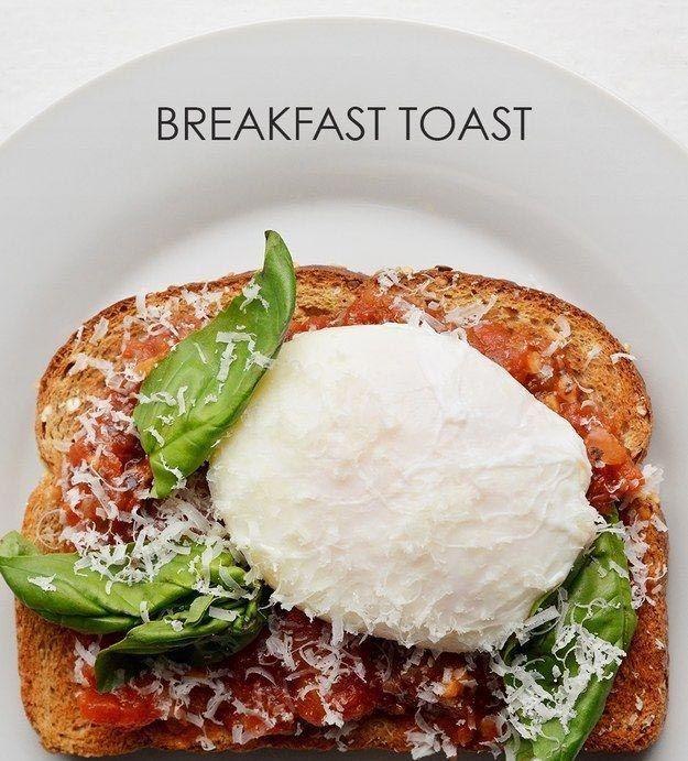 19. Соус маринара + яйцо-пашот + пармезан + базилик