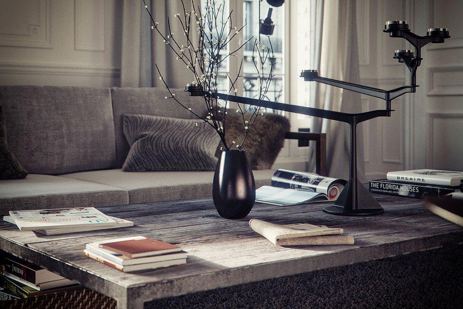 Проект квартиры в Париже от Бертрана Бенуа