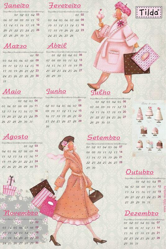 Tilda calendário