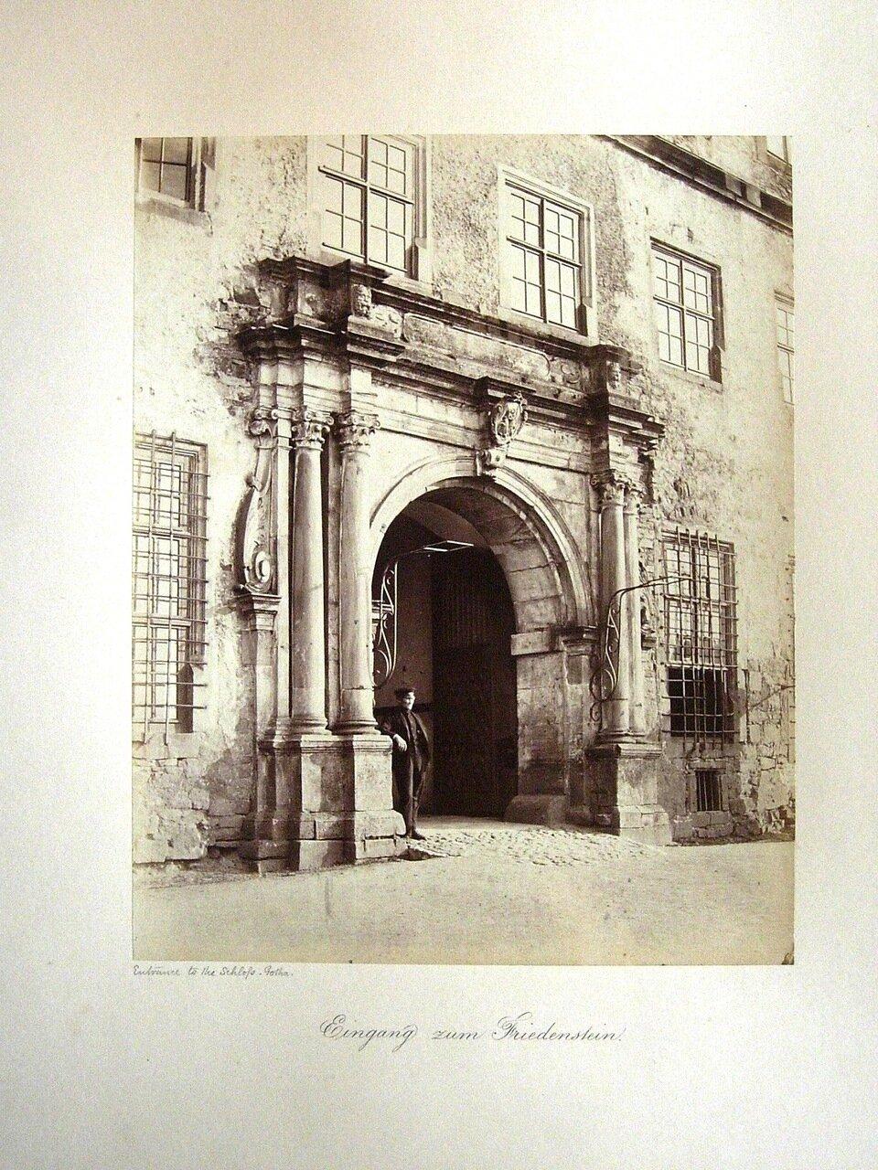Eingang zum Friedenstein. [Photographs of Gotha, 1858. ]