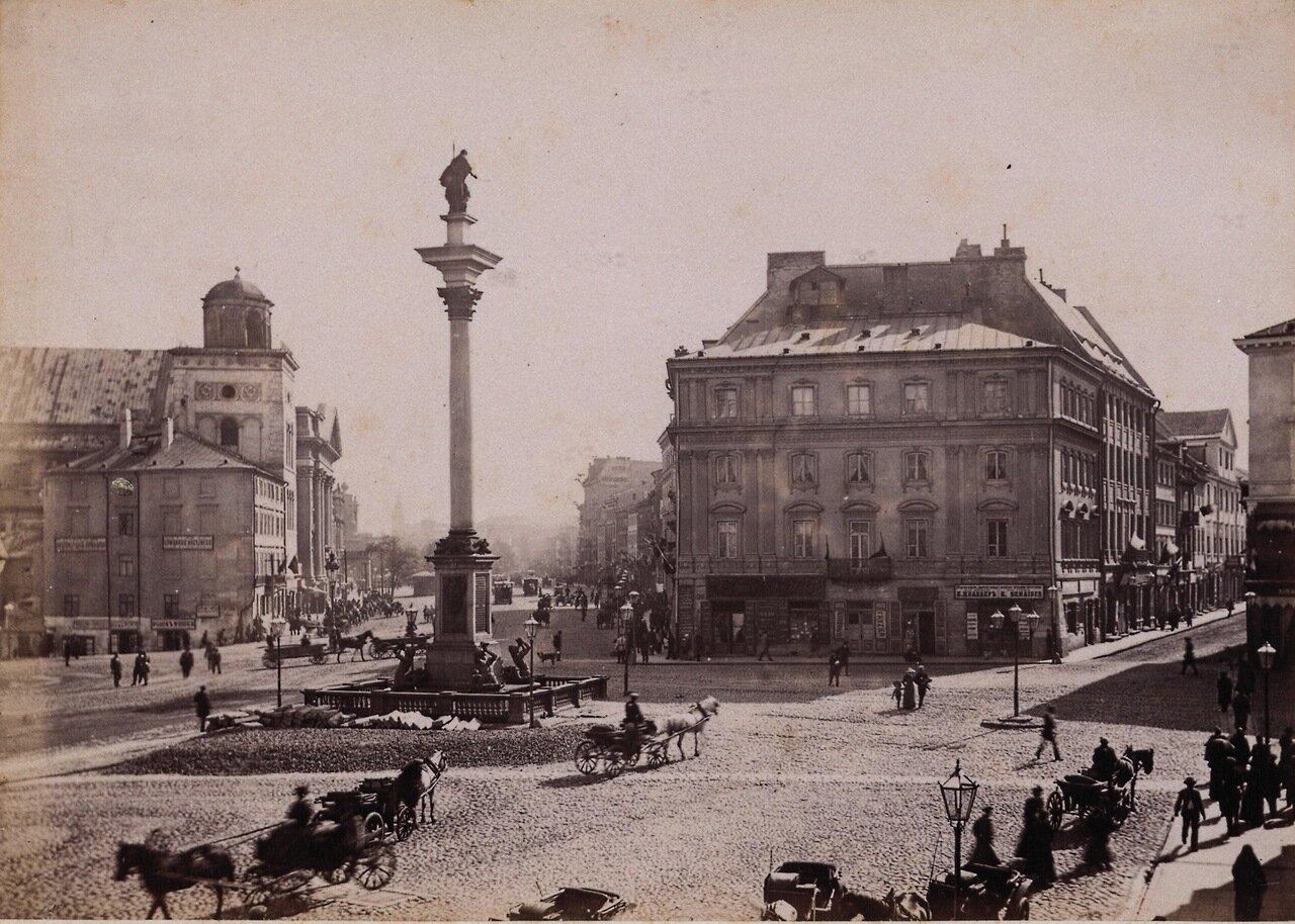 Замковая площадь с колонной Сигизмунда. 1890-е