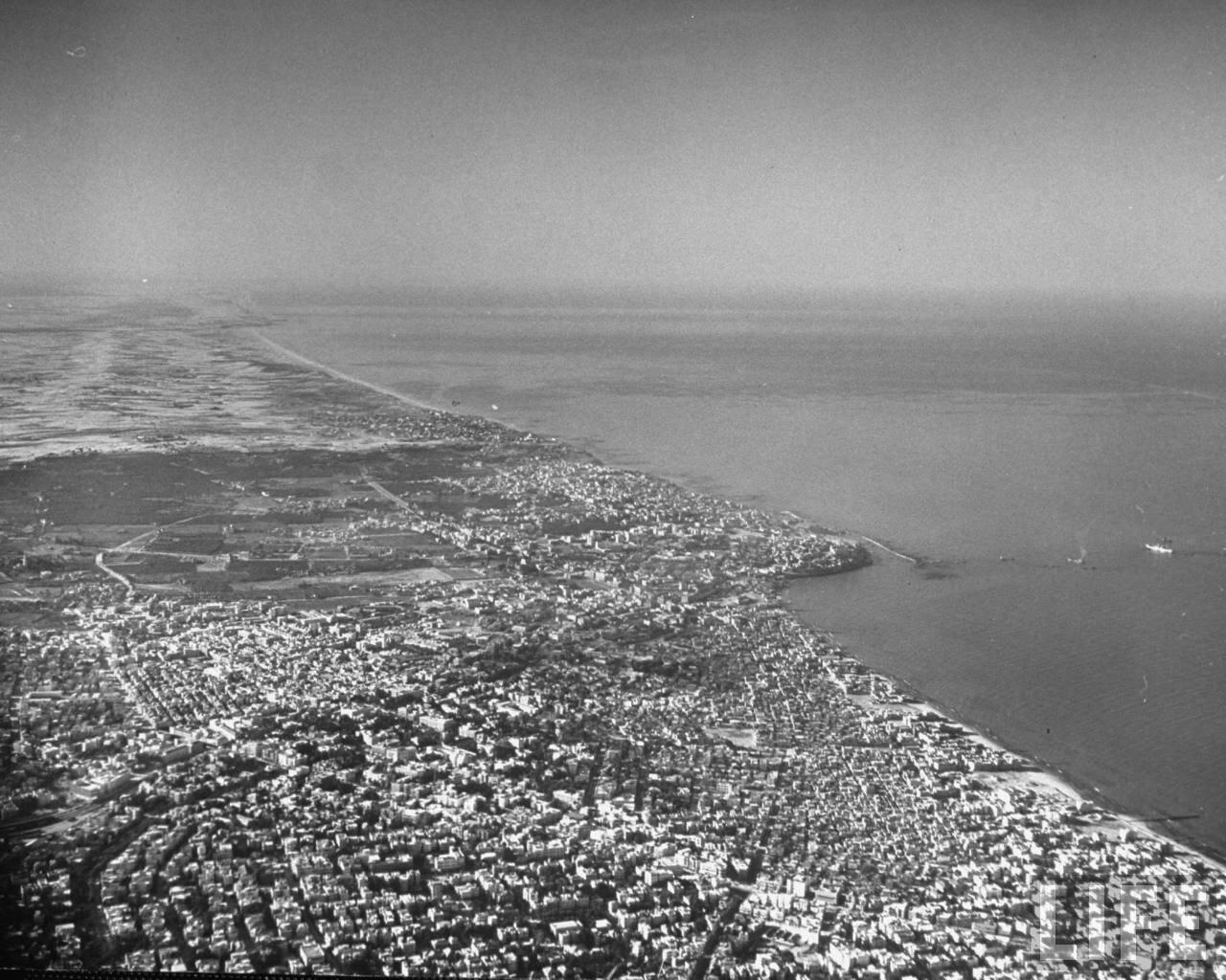 1948. Аэрофотосьемка Тель-Авива
