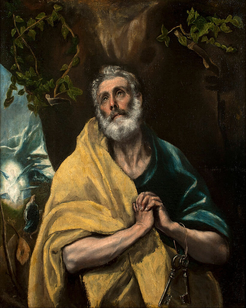 Saint Peter in Tears,1587/1596__El Greco (1541-1614);