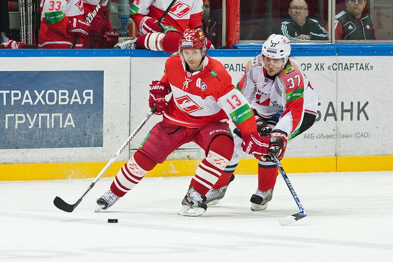 «Спартак» vs «Металлург» Нк 5:4 чемпионат КХЛ 2013-2014 (Фото)