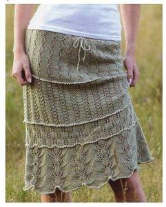 Узорные горизонты -юбка спицами от Lene Holme Samsoe