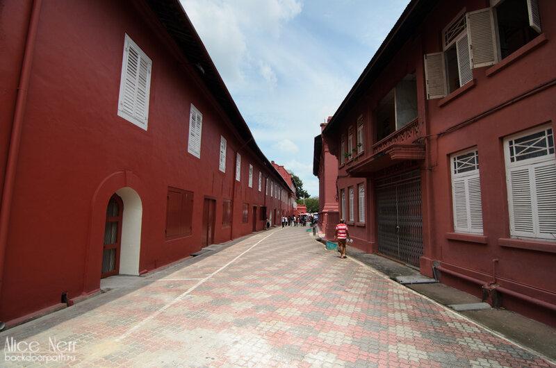 Улица с португальской застройкой колониальных времен в Мелакке.