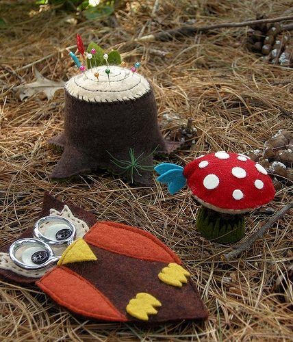 игрушки и поделки из трикотажа, фетра