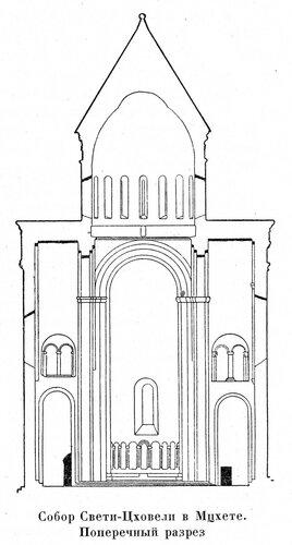 Собор Свети-Цховели в Мцхете, разрез