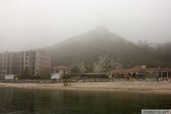 гора в тумане
