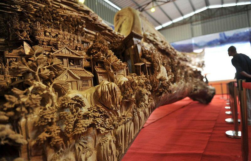 Эта деревянная скульптура попала в Книгу рекордов Гиннесса
