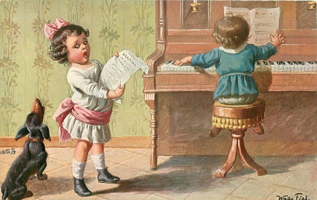 Днем, старинные открытки смешные
