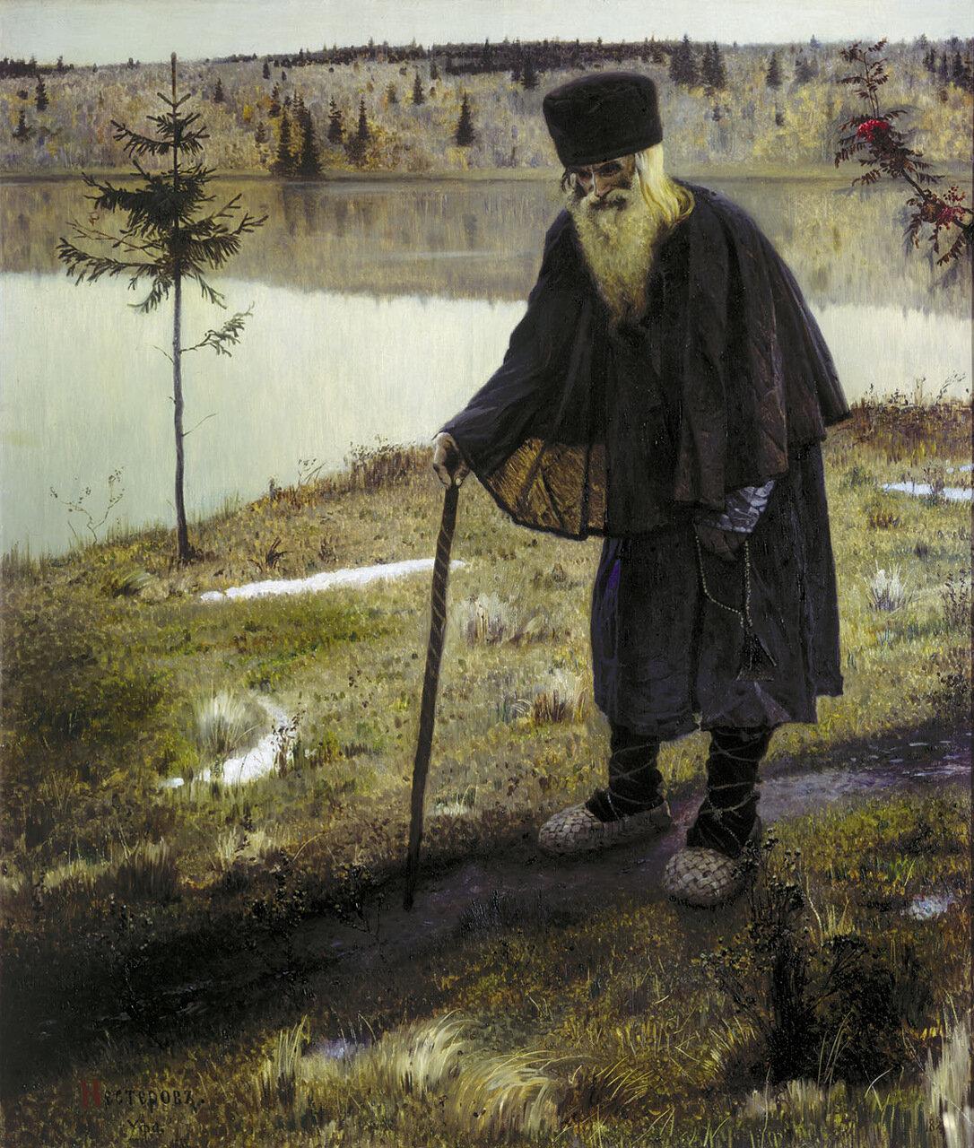 Пустынник. 1888-1889. Холст, масло, 143х125 см.jpg